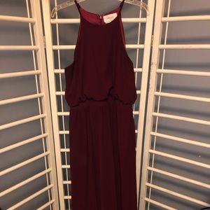 Wine bridesmaid dress